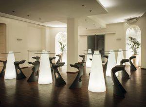 mesas con luz para terraza